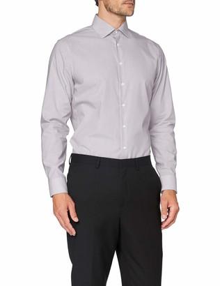 Seidensticker Men's Shaped Langarm Print Soft Dress Shirt