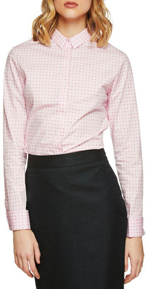 Oxford Angel French Cuff Spot Stretch Shirt