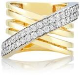 Effy Jewelry Effy Duo 14K White and Yellow Gold Diamond Ring, 1.23 TCW