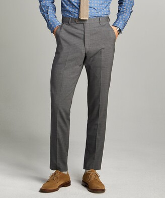 Todd Snyder Black Label Sutton Tropical Wool Suit Trouser in Dark Charcoal