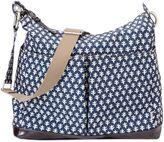 OiOi Mini Geo Hobo Diaper Bag in Monaco Blue