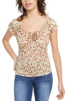 Planet Gold Juniors' Puff-Sleeve Peasant Blouse