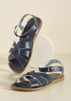 Salt Water Leather Sandal in Blue in 4 UK