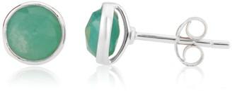 Auree Jewellery Savanne Sterling Silver & Amazonite Stud Earrings