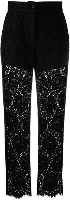 Dolce & Gabbana Embroidered Straight-Leg Trousers