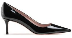 HUGO BOSS Italian-made pumps in patent leather with pointed toe