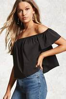 Forever 21 FOREVER 21+ Off-the-Shoulder Boxy Top