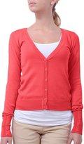 NE PEOPLE Light Button Down Long Sleeve V Neck Knit Cardigan-BLACK-L