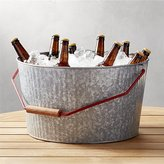 Crate & Barrel Decker Galvanized Beverage Tub