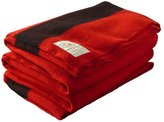 Woolrich Hudson Bay 8 Point Blanket, Scarlet with Stripes
