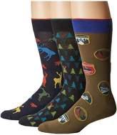 Hue Big Buck Socks with Half Cushion 3-Pack