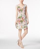 Adrianna Papell Petite Matelassé A-Line Dress