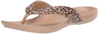 Crocs Women's Kadee Leopard Print Flip-Flop 4 M US