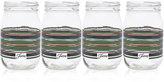 Fiesta Slate & Sage Stripe Set of 4 Mason Jar Glasses