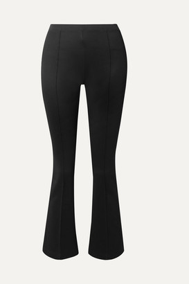Helmut Lang Cropped Stretch-jersey Flared Pants - Black