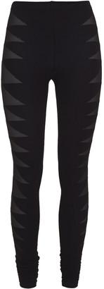 Rick Owens Lilies Mesh-paneled Stretch-jersey Leggings