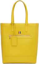 Thom Browne Yellow Leather Tote