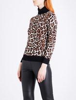 MICHAEL Michael Kors Leopard-print stertch-knit jumper