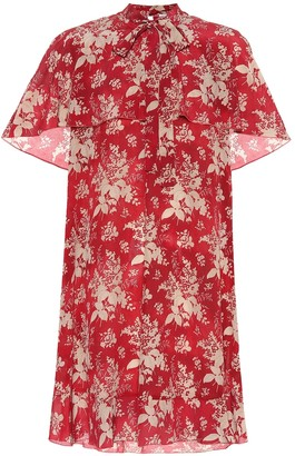 RED Valentino Silk-georgette minidress