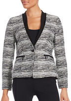 Ivanka Trump Tweed One-Button Blazer