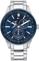 Tommy Hilfiger Tommy Hilfiger Austin Blue and Silver Detail Multi Dial Two Tone IP Stainless Steel Bracelet Mens Watch