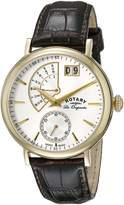 Rotary Men's gs90086/06 Analog Display Swiss Quartz Brown Watch