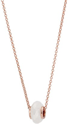 Katie Belle Libbie 18ct Rose Gold Vermeil Charm Necklace - Rainbow Moonstone