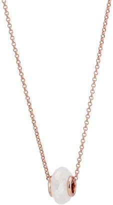 Libbie 18ct Rose Gold Vermeil Charm Necklace - Rainbow Moonstone