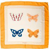 Bvlgari Butterfly Print Silk Scarf