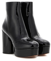 Marc Jacobs Amber Patent Leather Platform Ankle Boots