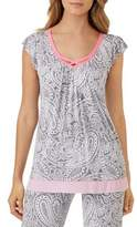 Ellen Tracy Short-Sleeve Pajama Top