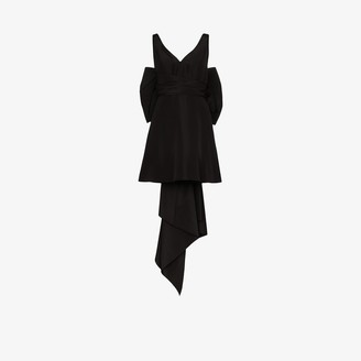 Carolina Herrera Bow Back Silk Mini Dress