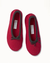 Soma Intimates Drawcord Cashmere Slippers Bordeaux/Black