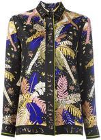 Emilio Pucci leaf print shirt - women - Silk - 44