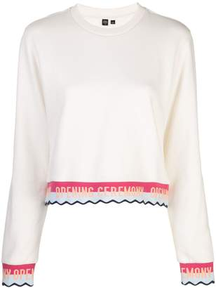 Opening Ceremony stripped ribbed sweatshirt