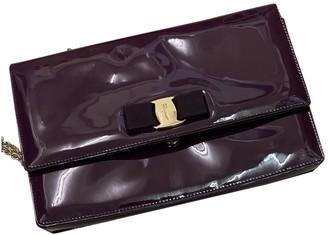 Salvatore Ferragamo Purple Patent leather Clutch bags