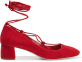 Miu Miu Suede Pumps - Red