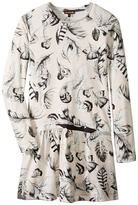 Roberto Cavalli Long Sleeve All Over Print Drop Waist Dress Girl's Dress