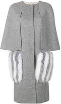 Fendi fur pocket coat - women - Fox Fur/Virgin Wool - 40