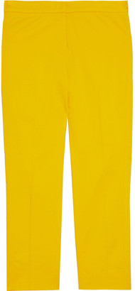 Max Mara Papy Cropped Cotton-blend Straight-leg Pants