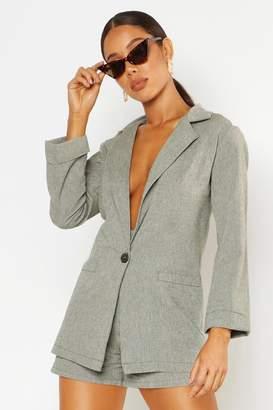 boohoo Oversized Linen Look Blazer
