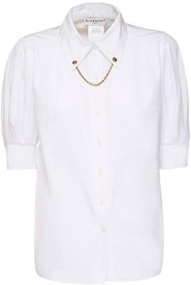 Givenchy Cotton Poplin Shirt W/ Chain