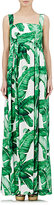 Dolce & Gabbana Women's Foliage-Print Empire-Waist Dress-WHITE, GREEN, NO COLOR