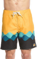 AMBSN 'Garth' Print Board Shorts