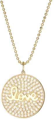 Sydney Evan 14K Yellow Gold & Diamond Love Script Medallion Necklace
