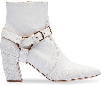Miu Miu Crackled Ankle Boots