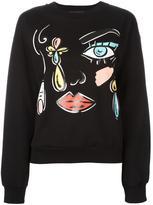 Moschino face print sweatshirt