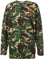 Off-White camouflage logo sweatshirt