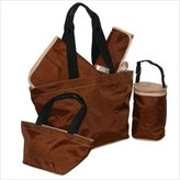 Kalencom Diaper Bag 5-Piece Tote Set - Chocolate/Cream by