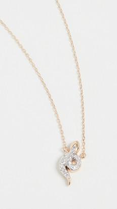 Adina Reyter Tiny Pave Snake Necklace